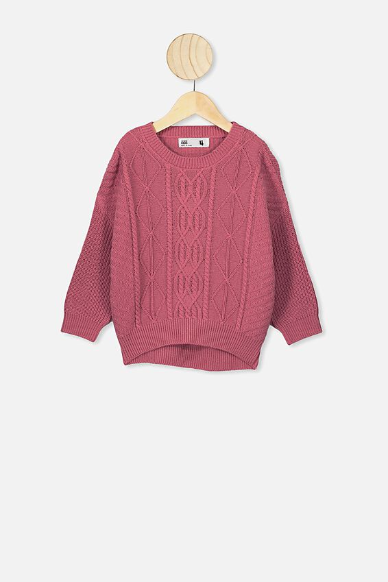 Deonne Knit Jumper, VERY BERRY