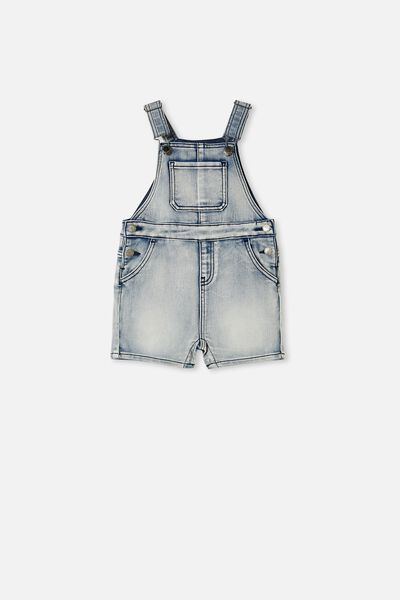 Dani Short Dungaree, DENIM WASH