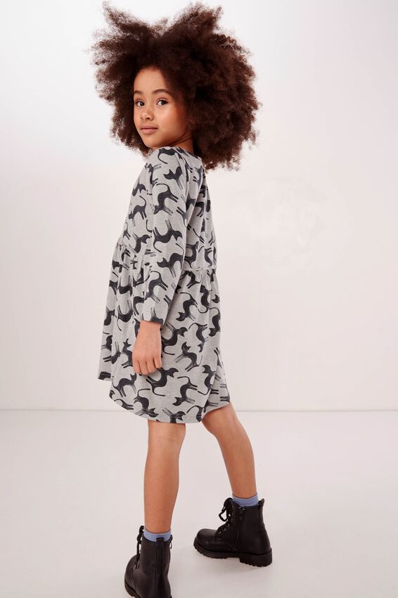 Freya Long Sleeve Dress, SAGE MARLE/CATS
