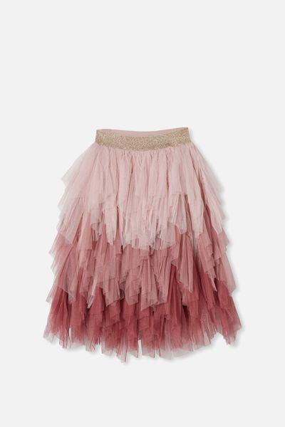 Tori Long Dress Up Skirt, DUSTY PINK GRADIENT