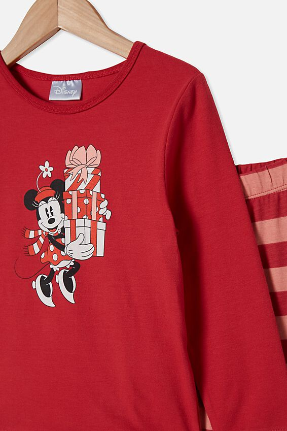 Florence Long Sleeve Pyjama Set, LCN DIS MINNIE GIFT GIFTING LUCKY RED