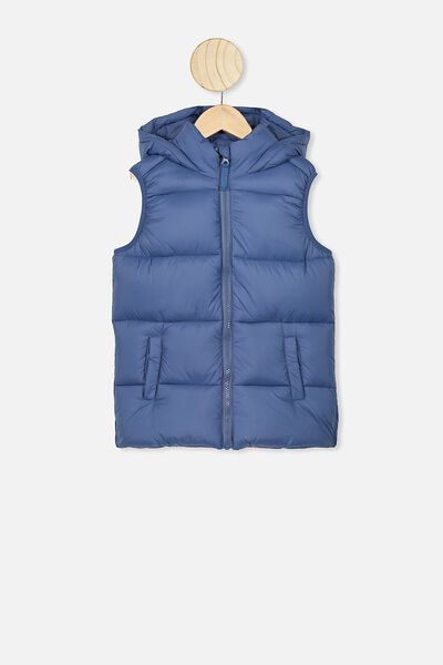 Billie Puffer Vest, PETTY BLUE