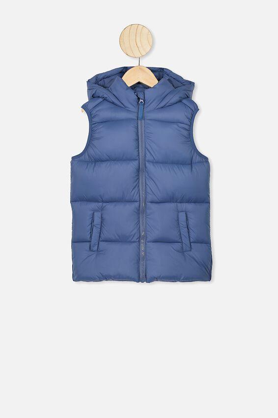 Billie Puffer Vest, PETTY BLUE