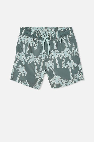 Bailey Board Short, WILD PALMS/SWAG GREEN