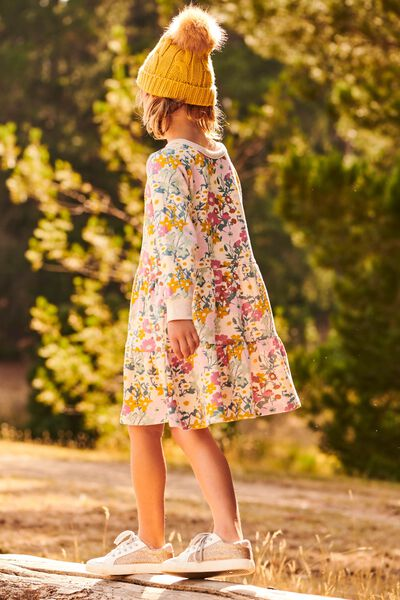 Angie Long Sleeve Dress, BLUSH MARLE/MEADOW FLORAL