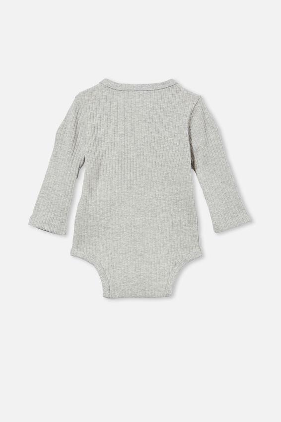 Ls Button Bubbysuit, CLOUD MARLE