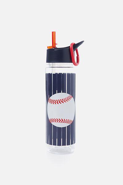 Summer Drink Bottle, NAVY BASEBALL