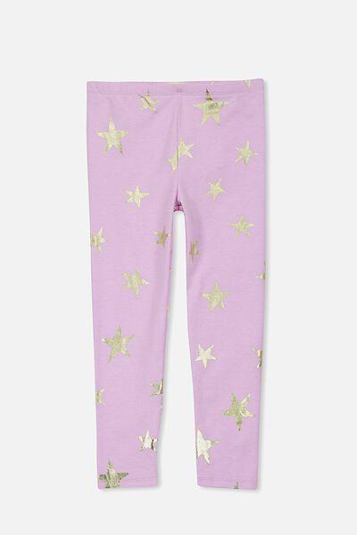 Huggie Leggings, ORCHID MARLE/GOLD FOIL STARS