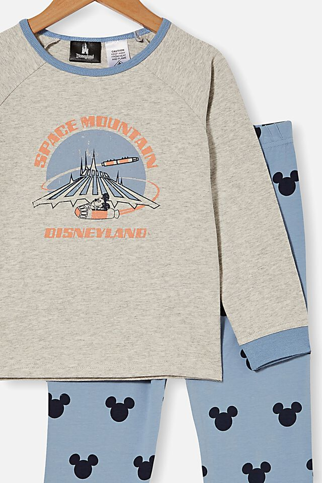 Disneyland Oscar Long Sleeve Pyjama Set, LCN DIS DISNEYLAND SPACE MOUNTAIN/SUMMER GREY