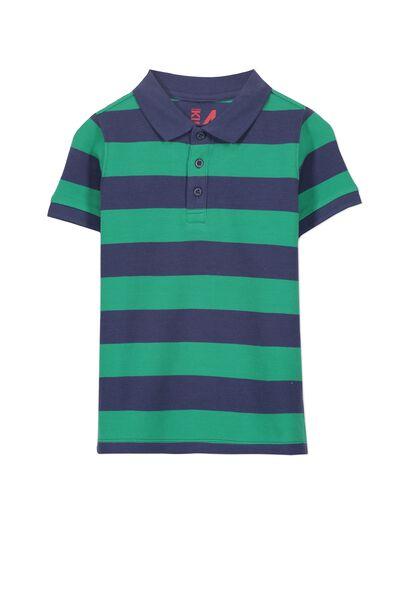 Kenny3 Polo, BANDIT BLUE/SALTY GREEN STRIPE