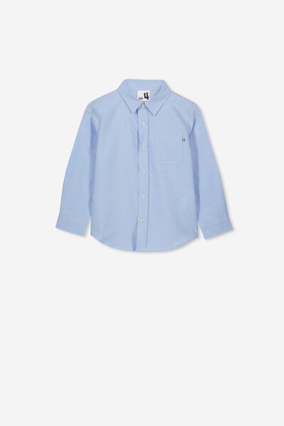 Prep Long Sleeve Shirt, SKY BLUE OXFORD