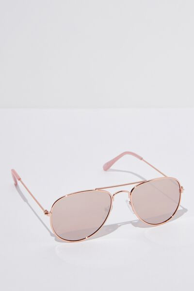 Pilot Sunglasses, ROSEY GOLD