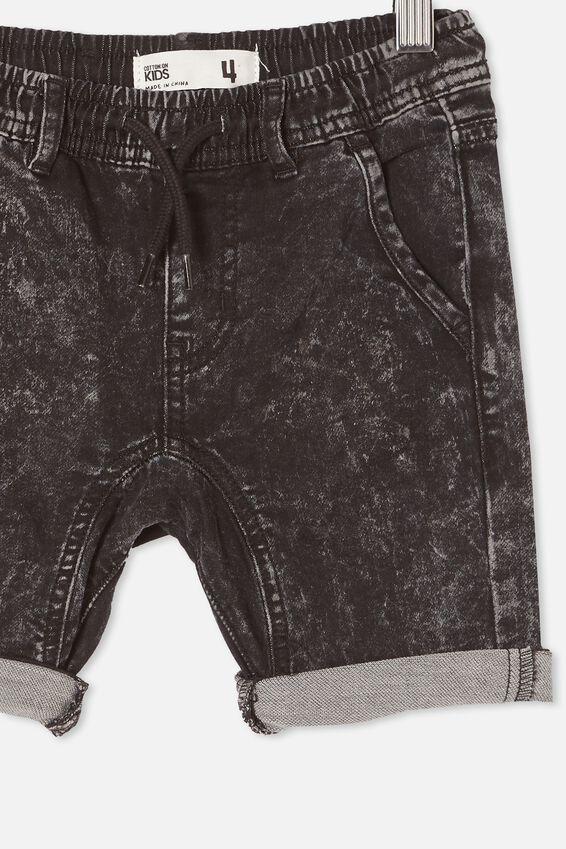 Jonny Jogger Short, BLACK ACID WASH