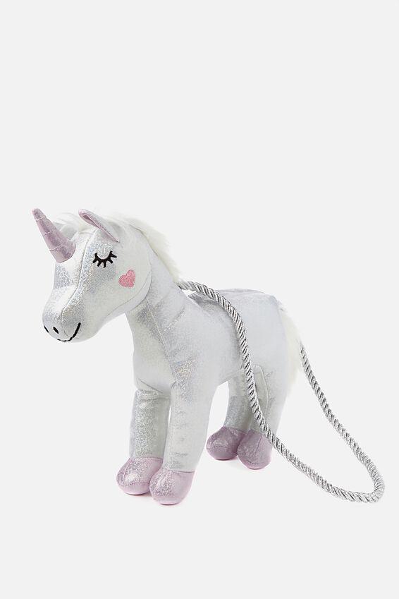 Silver Unicorn Bag, UNICORN/METALLIC