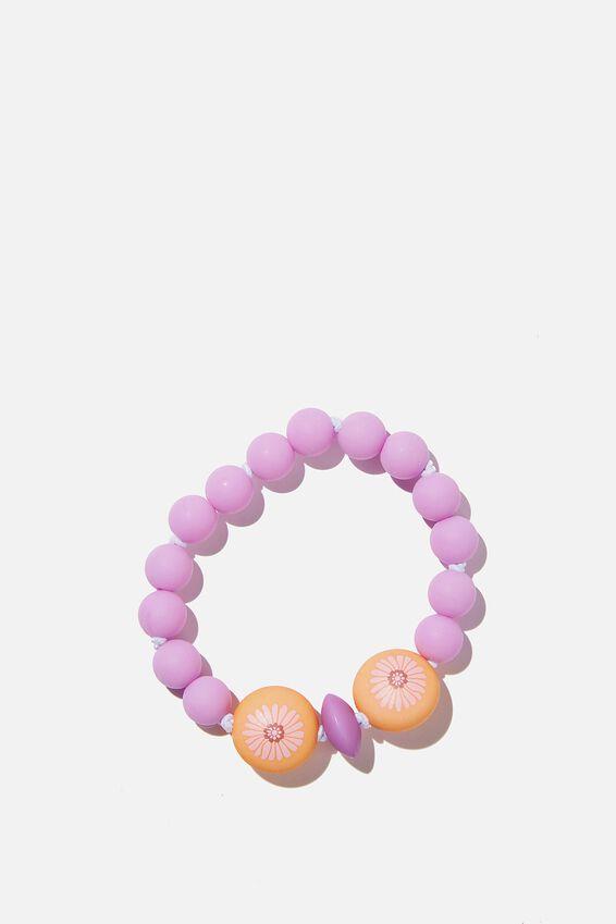 Mixed Beaded Bracelet, RETRO FLORAL