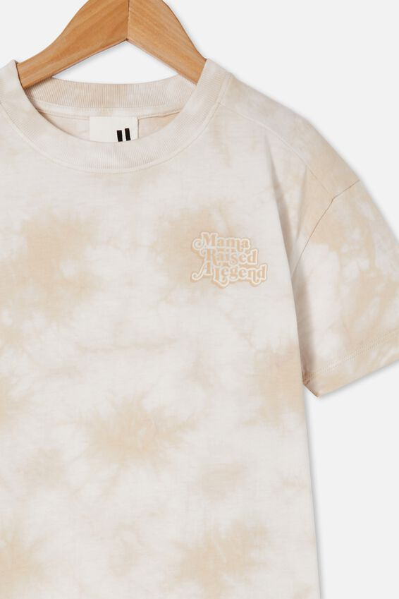 Scout Drop Shoulder Short Sleeve Tee, RAINY DAY TIE DYE /  MY MAMA RAISED A LEGEND