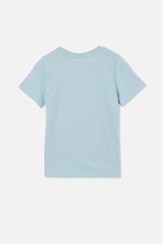 Penelope Short Sleeve Tee, BUDGIE BLUE/GROW BOTANICAL