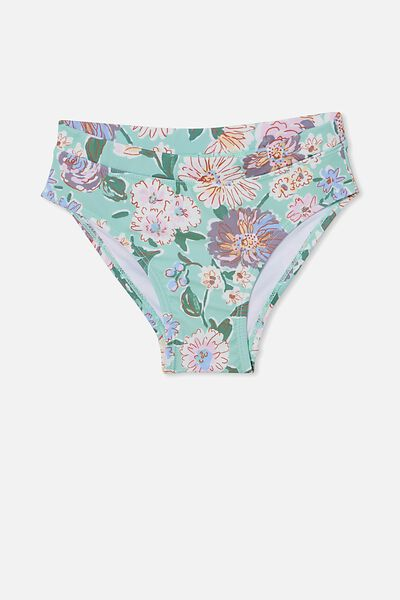Pippa Bikini Bottom, DUCK EGG/PAINTERLY FLORAL