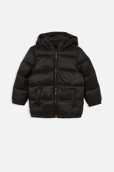 Frankie Puffer Jacket, BLACK