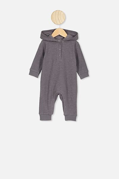 Rowan Hooded Fleece All-In-One, RABBIT GREY