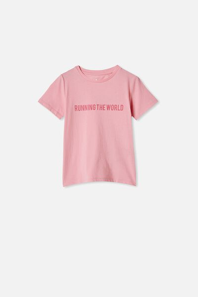 Penelope Short Sleeve Tee, MARSHMALLOW/RUNNING THE WORLD