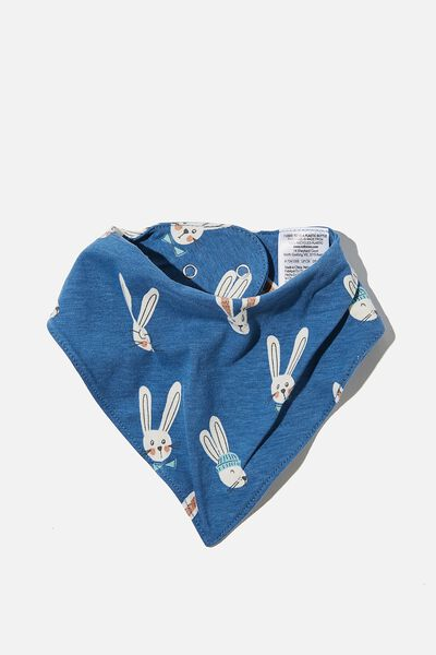 The Bandana Bib, PETTY BLUE/BAILEY BUNNY