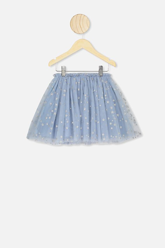 Trixiebelle Tulle Skirt, DUSTY BLUE/STARS