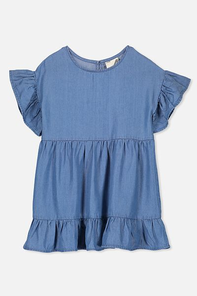 Dakota Short Sleeve Dress, MID BLUE
