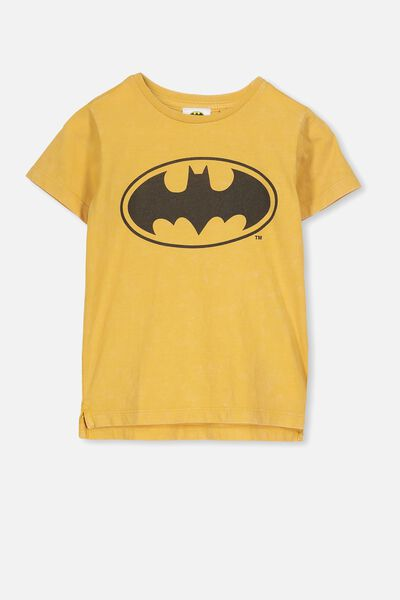 Short Sleeve License1 Tee, GOLD GLOW WASH/BATMAN