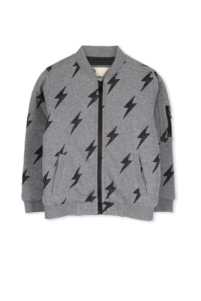 Austin Fleece Bomber, HAZE MARLE LIGHTENING