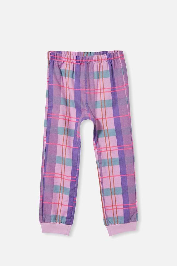 Angie Long Sleeve Pyjama Set, TARTAN / PALE VIOLET