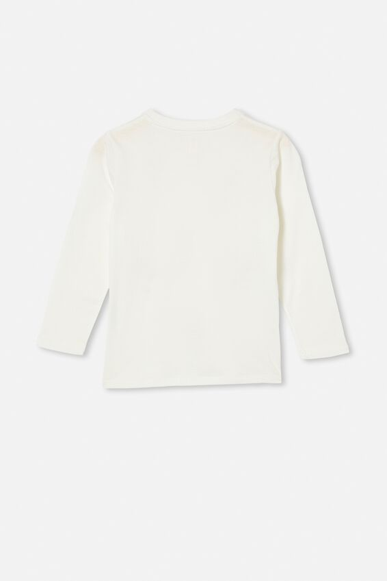 Stevie Long Sleeve Embellished Tee, VANILLA BOTANICAL