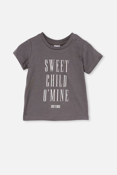 Jamie Short Sleeve Tee-License, LCN BR RABBIT GREY/SWEET CHILD O' MINE