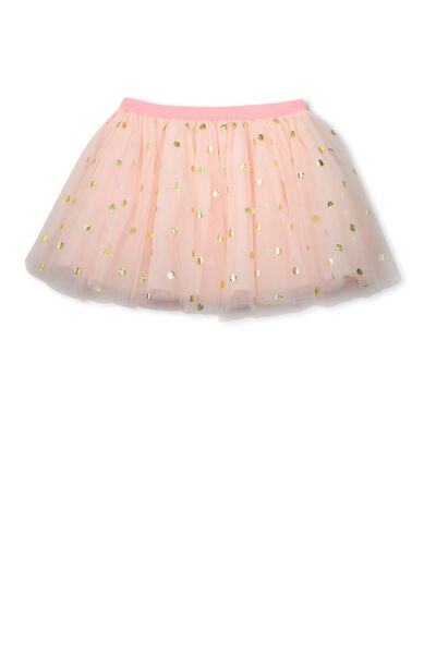 Trixiebelle Tulle Skirt, SEA PINK/GOLD FOIL SPOT