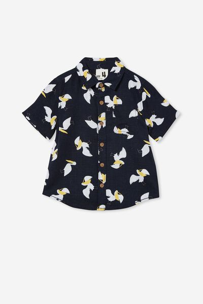 Resort Short Sleeve Shirt, NAVY BLAZER/PELICAN