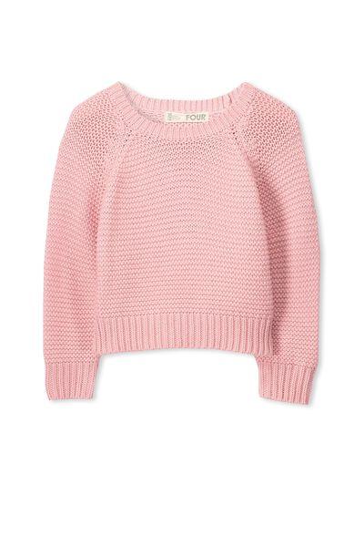 Taylor Crop Knit, POWDER PINK