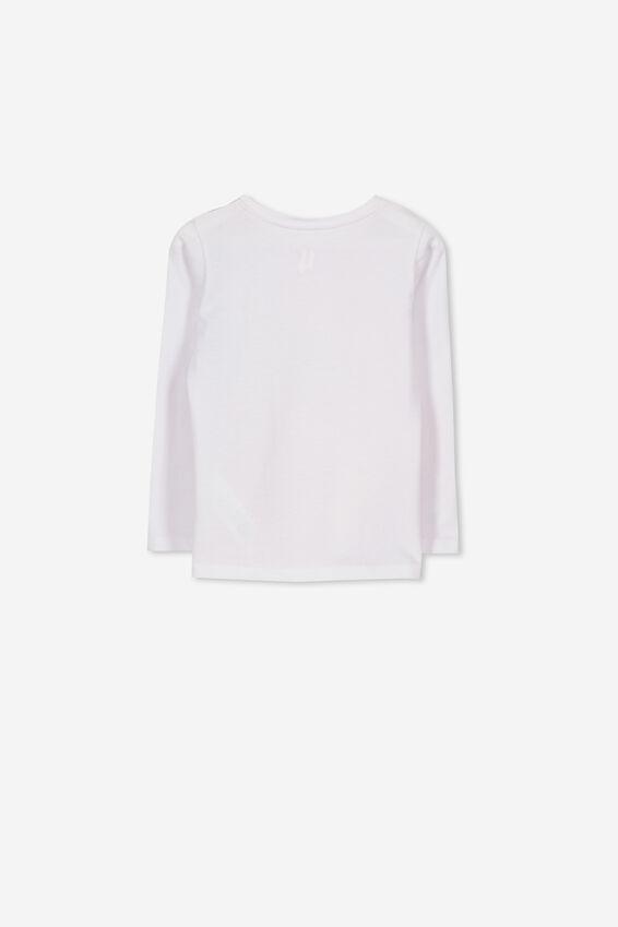 Anna Long Sleeve Tee, WHITE/CLOUD UNICORN