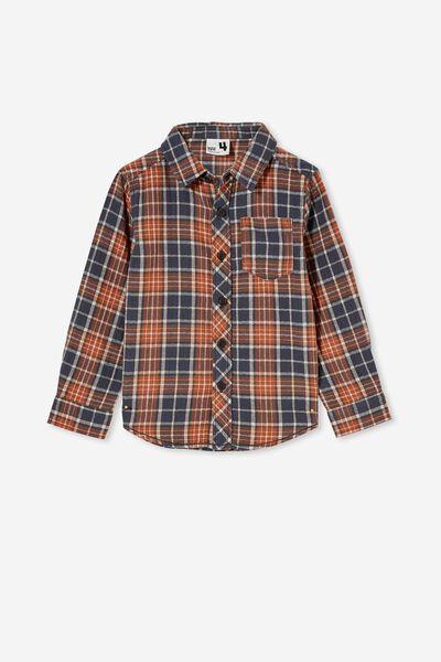 Rugged Long Sleeve Shirt, VINTAGE NAVY PLAID