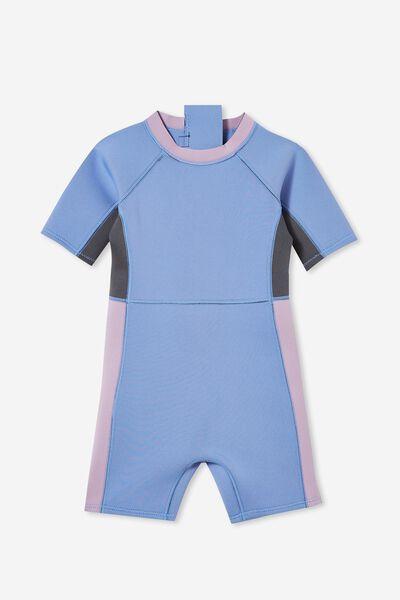 Noosa Short Sleeve Wetsuit, DUSK BLUE