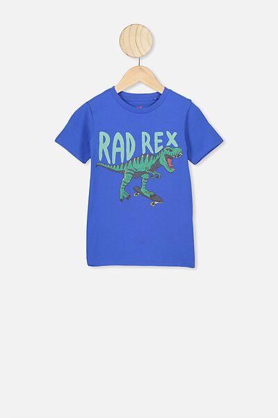 Max Short Sleeve Tee, ULTRA BLUE/RAD REX