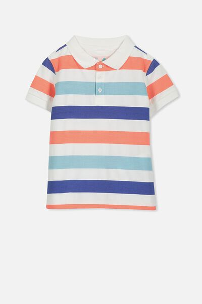 Kenny3 Polo, BLUE MULTI STRIPE