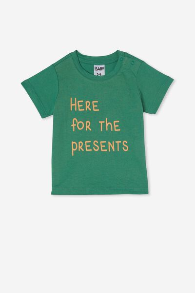 Jamie Short Sleeve Tee, GUAC/HERE FOR THE PRESENTS
