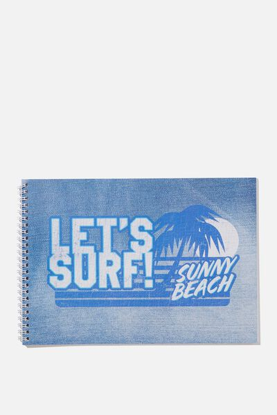 Sunny Buddy A4 Sketch Book, MAX SURF