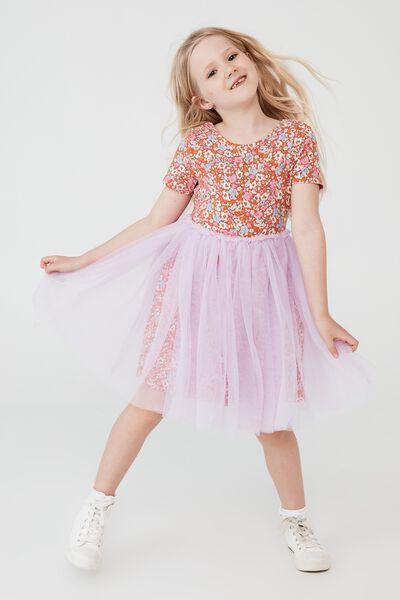 Ivy Dress Up Dress, MIDDLETON FLORAL/PALE VIOLET