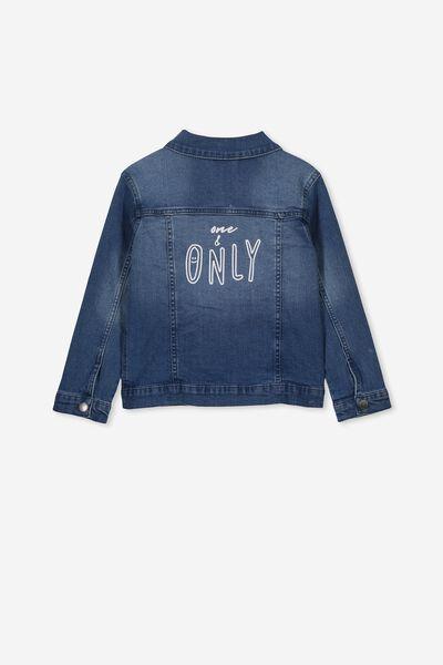 Daisy Denim Jacket Personalised, VINTAGE WASH
