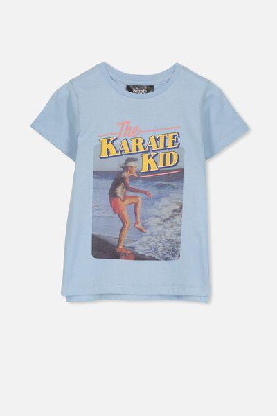 Short Sleeve License1 Tee, BUDGIE BLUE/KARATE KID