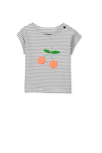 Bonnie Tee, TWILIGHT BLUE STRIPE/FLUFFY CHERRIES