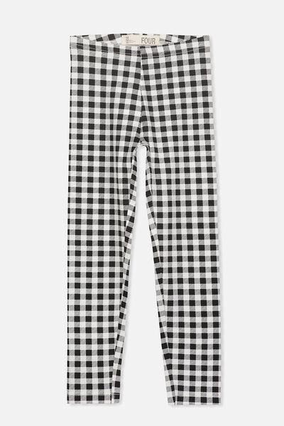 Huggie Leggings, VANILLA/ BLACK GINGHAM