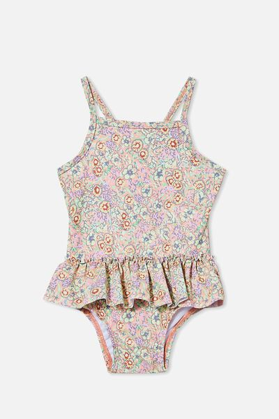 Lucinda Ruffle Swimsuit, MUSK MELON/VINTAGE FLORAL