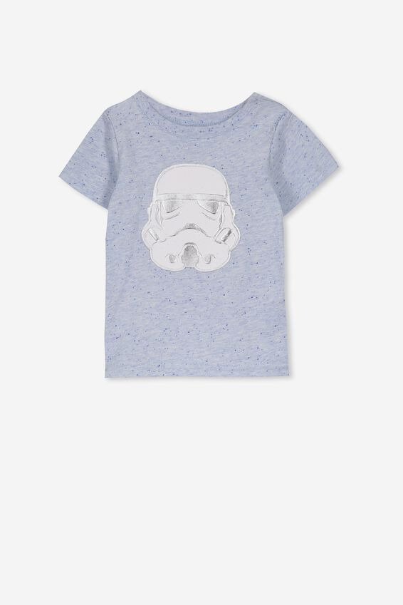 License Freddie Short Sleeve Tee, FUN BLUE MARLE/STAR WARS